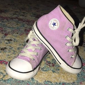 Lilac Converse Sneakers Toddler 9